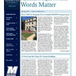 Photo shows Words Matter Spring 2019 issue cover