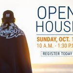 Photo image of flyer for Monmouth University's Open House on October 13, 2019