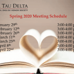 Image of flyer for Spring 2020 Meeting Schedule