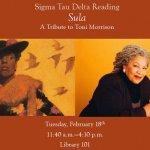 Photo promotes marathon reading on Toni Morrison Day