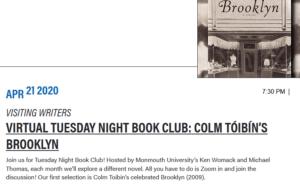 Photo for Virtual Tuesday Night Book Club: Colm Tóibín's Brooklyn