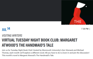 Virtual Tuesday Night Book Club: Margaret Atwood's The Handmaid's Tale