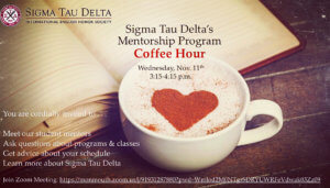 Photo for Sigma Tau Delta's Mentorship Program Coffee Hour - click for detailed view