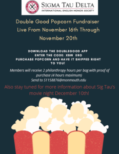 Image of flyer for Double Good Popcorn Fundraiser