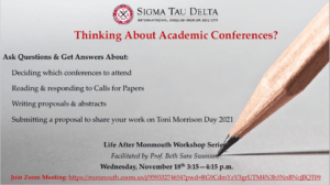 """Photo for Life After Monmouth Workshop Series: """"Thinking About Academic Conferences?"""" - click for detailed view"""