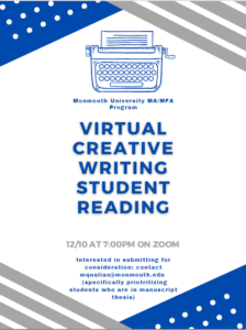 Image for Virtual Creative Writing Student Reading - click for detailed view