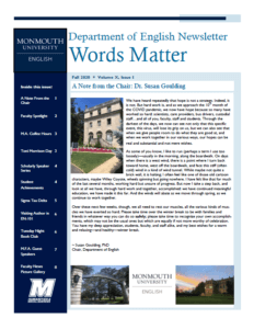 Photo image of cover for Words Matter Fall 2020 issue: Click for larger image