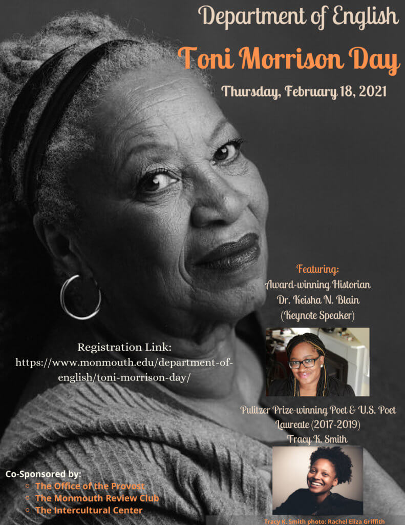 Photo of Toni Morrison Day event flyer: Click or tap to view and download program schedule
