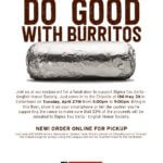Photo image of Chipotle Fundraiser event flyer