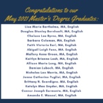 Photo image list of Master's Degree graduates