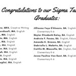Congratulations to our Sigma Tau Delta Graduate List Part 1