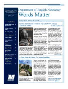 Cover image of Spring 2021 issue of Words Matter newsletter - click or tap to read issue