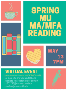 Spring MU MA/MFA Reading Virtual Event - Click image for detailed view