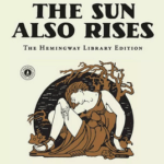 An image of the cover of Snow Falling on Cedars, the books title is on the left side of the image with a fogged in image of The Sun also Rises book cover.