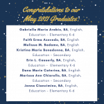 Photo image shows list of May 2021 graduates part 1