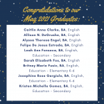 Photo image shows list of May 2021 graduates part 2