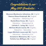 Photo image shows list of May 2021 graduates part 3