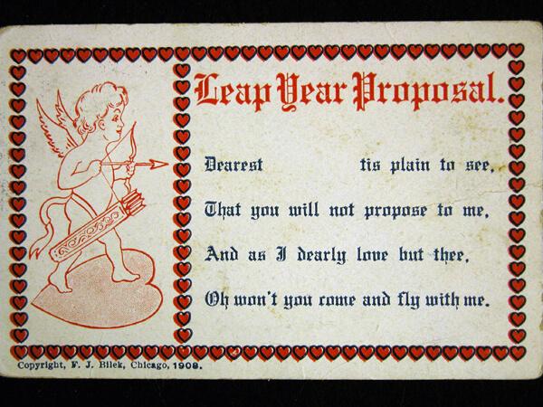 Photo of 1908 Leap Year Postcard: Dearest