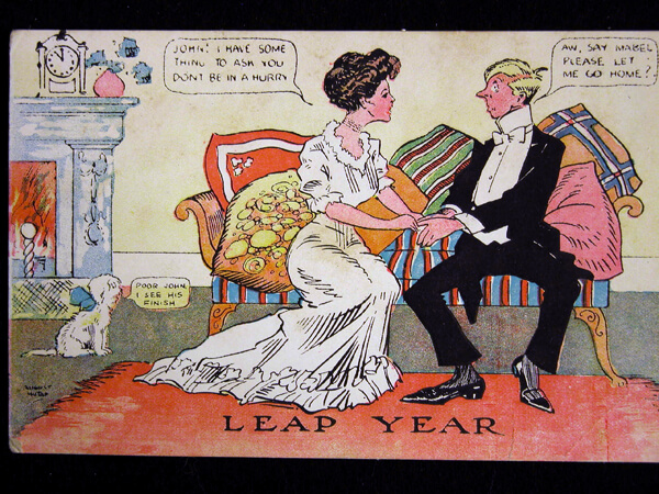Photo of 1908 Leap Year Postcard by August Hutaff