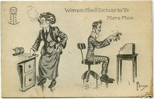 Photo of Leap Year Postcard: Women Shall Dedicate to Ye Mere Men