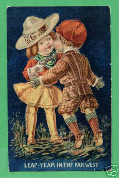 Photo of Leap Year Postcard: Leap-year in the West