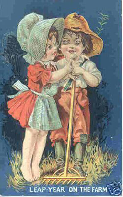 Photo of Leap Year Postcard: Leap year on the farm