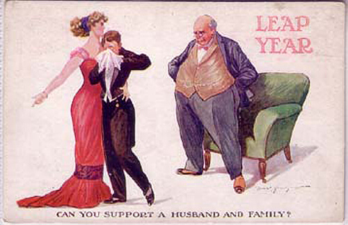Photo of Leap Year Postcard: Can you support a husband and family