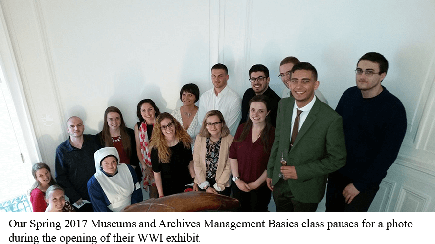 Museum Archives class 2017