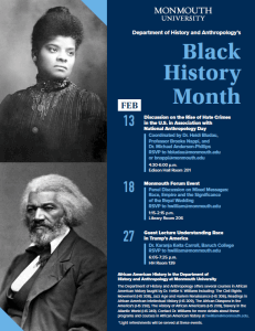 Click on image to read a list of black history month events