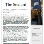 Click or tap image to view and download current issue of The Sextant
