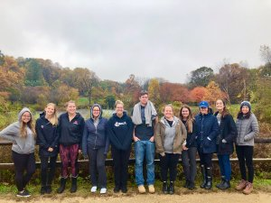 Group Photo of Ecotherapy Students on Fall Field Trip