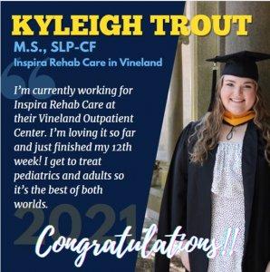 Photo of SLP Alumna Kyleigh Trout
