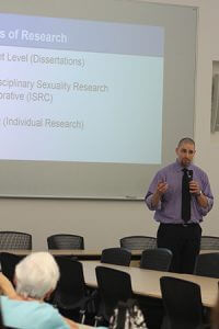 Photo of Mark Levand giving presentation