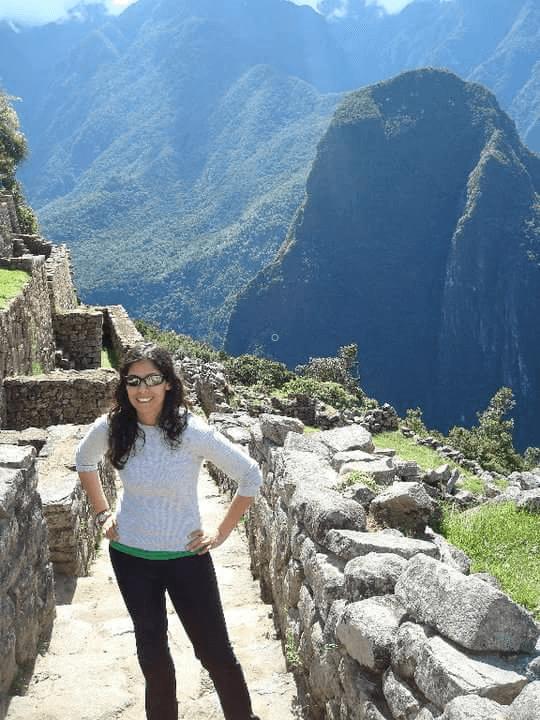 Photo of Neha during visit to Machu Piichu