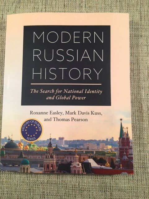 """Book cover of """"Modern Russian History: The Search for National Identity and Global Power"""" (San Diego: Cognella Academic Publishing, 2020)"""