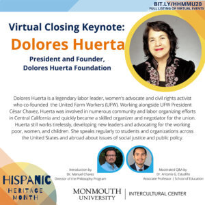 Photo image of flyer for Closing Virtual Keynote at Hispanic Heritage Month 2020 event. Click or tap for detailed view.