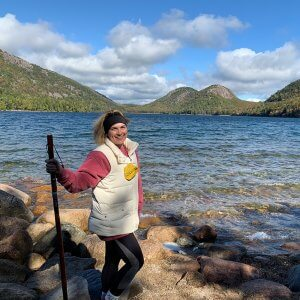Photo of Stefania Tattoli hiking in the mountains