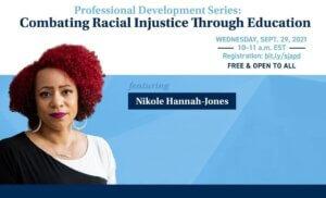 Nikole Hannah-Jones is featured speaker Sept 29