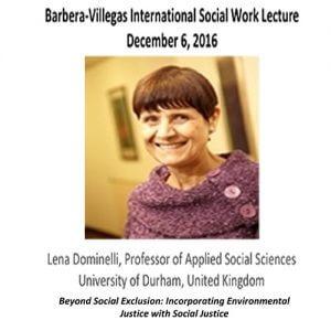 Barbera-Villegas International Social Work Lecture: Lena Dominelli