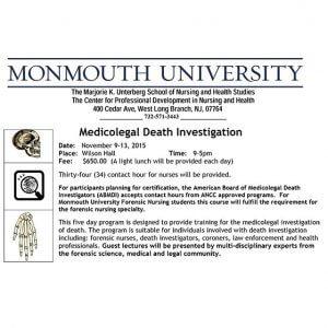 Workshop: Medicolegal Death Investigation