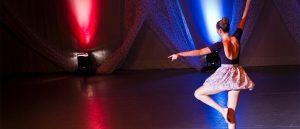 A woman dancing ballet
