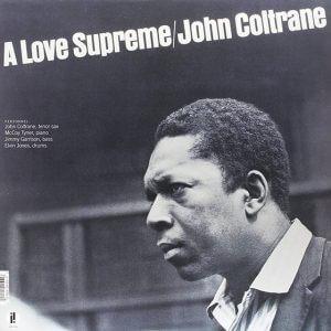 The cover for John Coltrane's A Love Supreme album