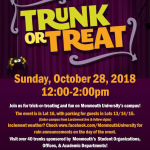 Advertisement for Trunk-or-Treat 2018