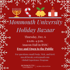 Holiday Bazaar at Monmouth University - Click to Learn More