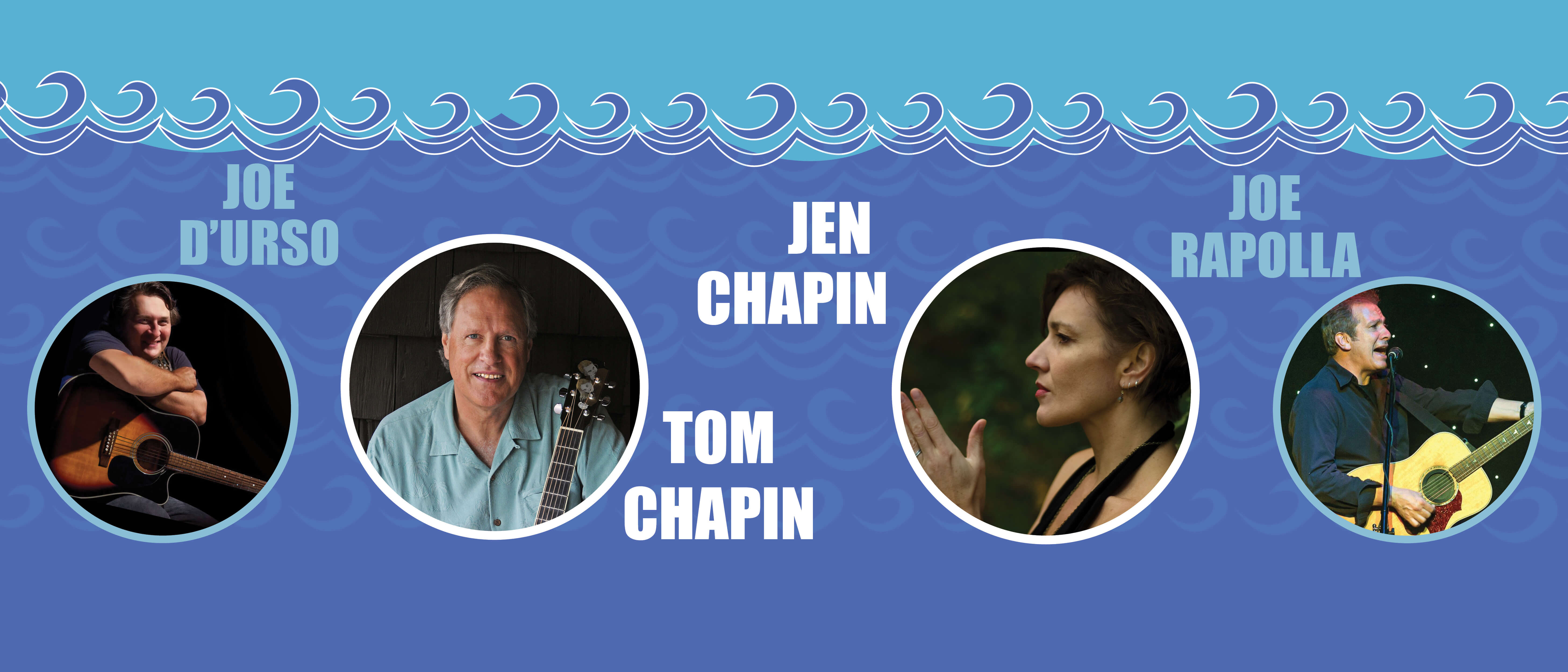 Photographic image for Songwriters by the Sea with Joe D'Urso, Tom Chapin, Jen Chapin and Joe Rapolla