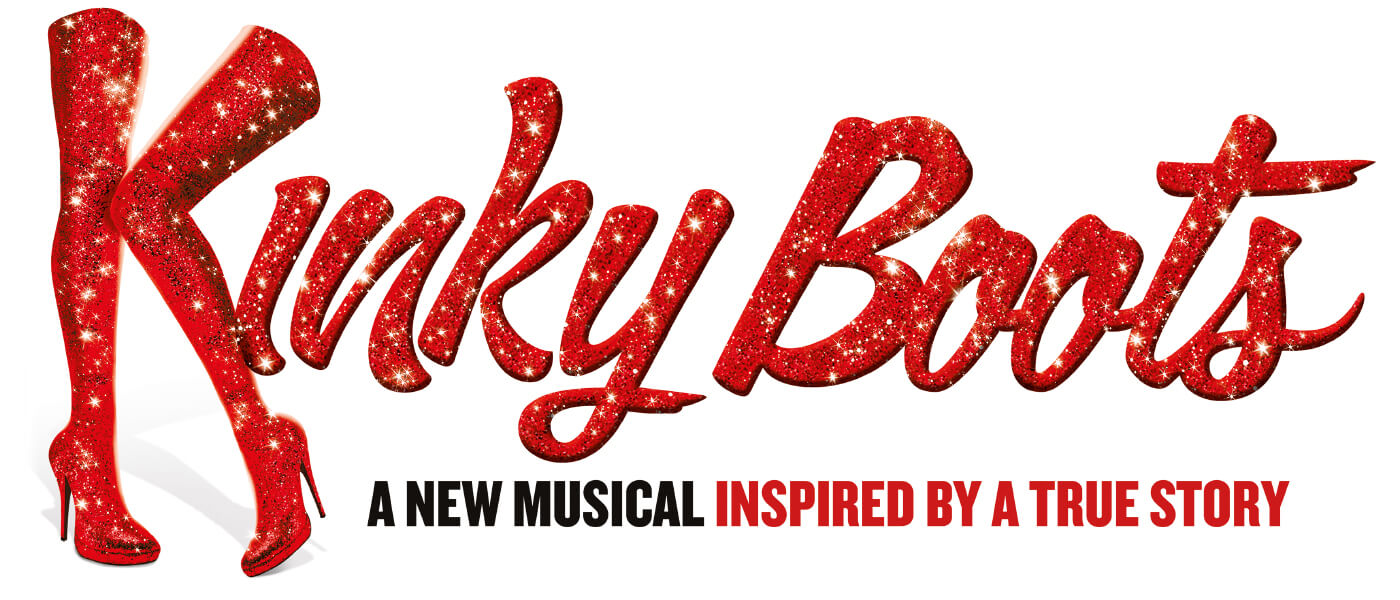 Image of advertisement for Kinky Boots musical production at Monmouth University
