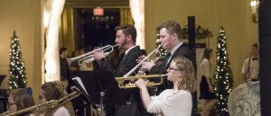 Photo of musicians performing during annual Holiday Concert: at Monmouth University's Wilson Hall