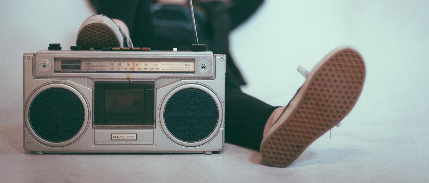 Photo of boom box radio player