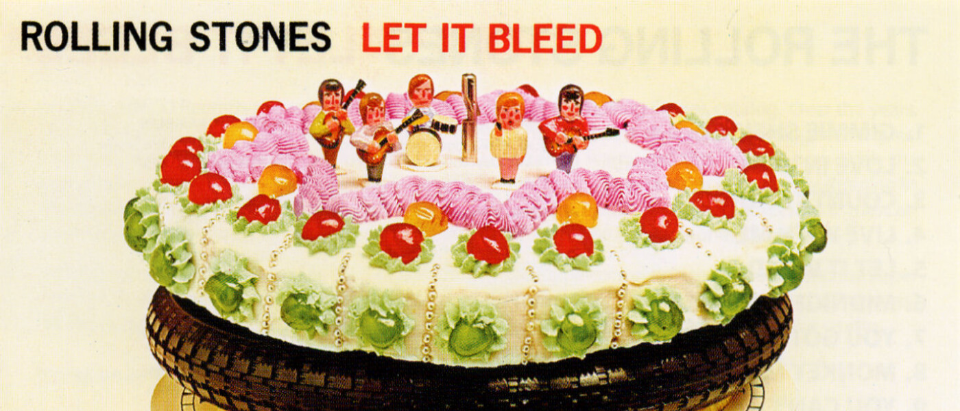 Photo image shows the album cover of Let It Bleed by the Rolling Stones