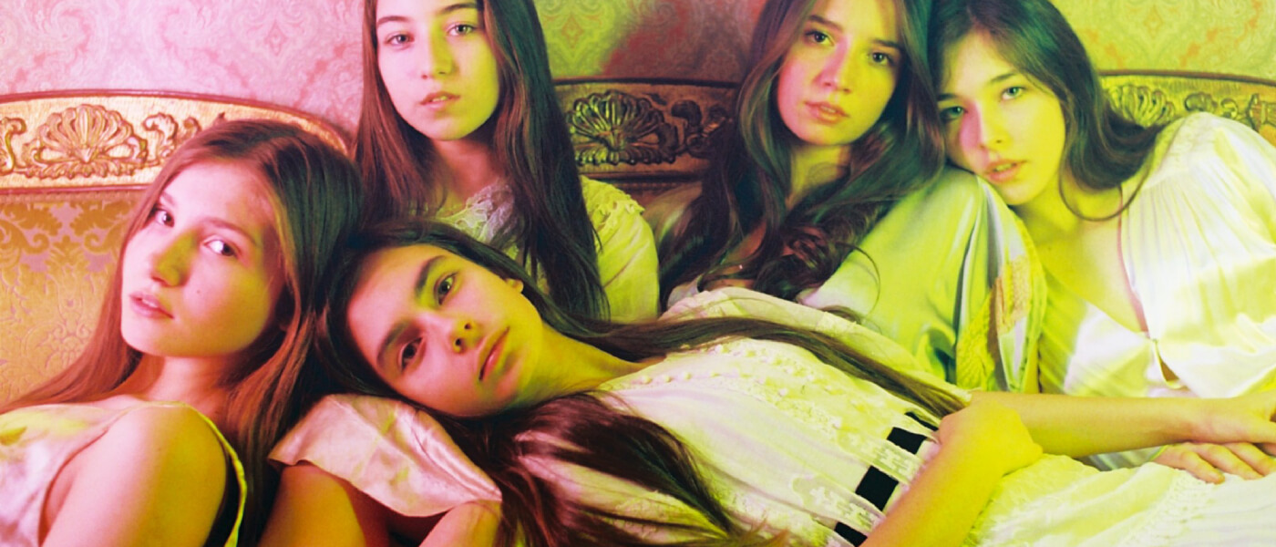 Promotional photograph of five young women featured in the 2015 film Mustang